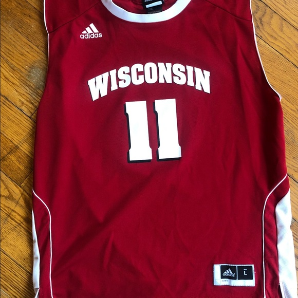 super popular 736d3 481df Wisconsin Badgers Basketball Jersey #11